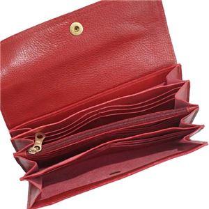 IL BISONTE(イルビゾンテ) フラップ長財布  C0842 245 RUBY RED