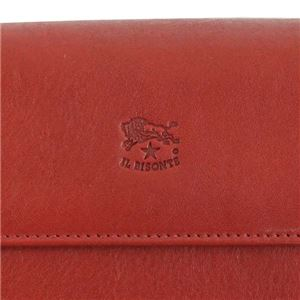 IL BISONTE(イルビゾンテ) フラップ長財布  C0918 245 RUBY RED