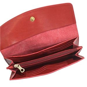 IL BISONTE(イルビゾンテ) フラップ長財布  C0973 245 RUBY RED