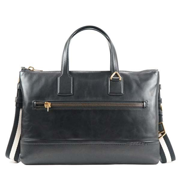 Bally(バリー) ブリーフケース  BUSINESS BAG BLACK BLACK/BEIGEf00