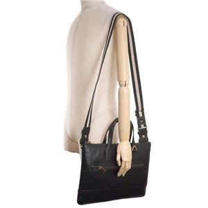 Bally(バリー) ブリーフケース  BUSINESS BAG BLACK BLACK/BEIGE f05