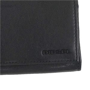DIESEL(ディーゼル) フラップ長財布  X04457 H3350 BLACK/BLAZING YELLOW