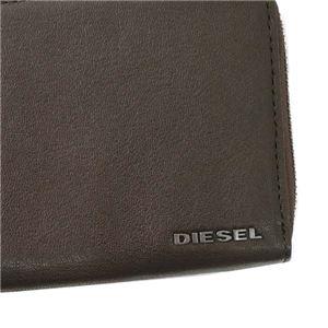 DIESEL(ディーゼル) ラウンド長財布  X04458 H6385 COFFEE BEAN/NECTARINE