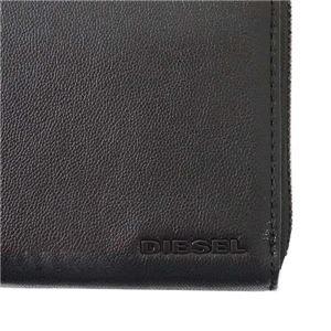 DIESEL(ディーゼル) ラウンド長財布  X04458 H3350 BLACK/BLAZING YELLOW