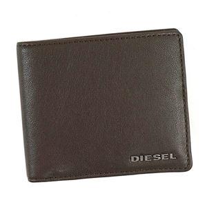 DIESEL(ディーゼル) 二つ折り財布(小銭入れ付)  X04459 H6385 COFFEE BEAN/NECTARINE