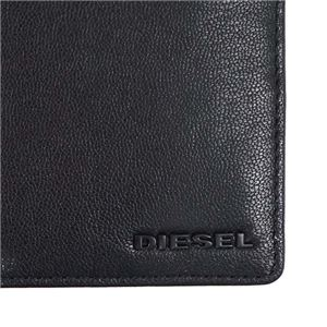 DIESEL(ディーゼル) 二つ折り財布(小銭入れ付)  X04459 H3350 BLACK/BLAZING YELLOW