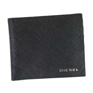 DIESEL(ディーゼル) 二つ折り財布(小銭入れ付)  X04743 H5767 BLACK/ANTHRACITE