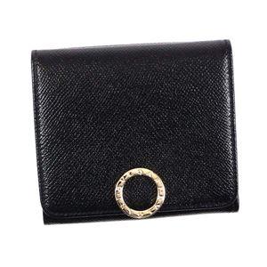 Bvlgari(ブルガリ) 三つ折り財布(小銭入れ付) 281492 BLACK