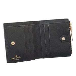 KATE SPADE(ケイトスペード) 二つ折り財布(小銭入れ付) PWRU5837 98 BLACK MULTI