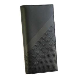 EMPORIO ARMANI(エンポリオアルマーニ) フラップ長財布 YEM474 81956 BLACK
