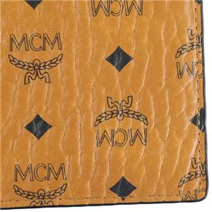 MCM(エムシーエム) 二つ折り財布(小銭入れ付) MXS6AVI66 CO001 COGNAC
