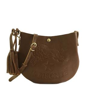 IL Bisonte(イルビゾンテ)ナナメガケバッグ  A2665 846 DARK BROWN
