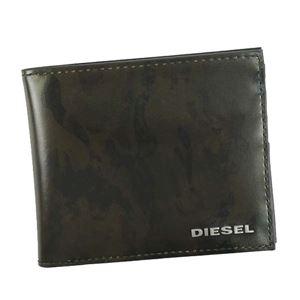 DIESEL(ディーゼル) 二つ折り財布(小銭入れ付) X04991 H5760 OLIVE NIGHT/MILITARY CAMOU