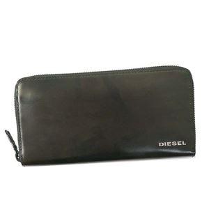 DIESEL(ディーゼル) ラウンド長財布  X05077 H5760 OLIVE NIGHT/MILITARY CAMOU
