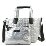 BEECOLLECTIVE(ビーコレクティブ )トートバッグ  101-201-301  METALLIC SILVER