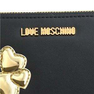 LOVE MOSCHINO(ラブモスキーノ) ラウンド長財布  JC5557 00B NERO/ORO