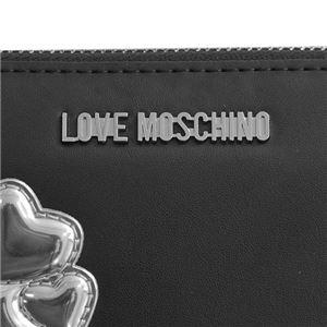 LOVE MOSCHINO(ラブモスキーノ) ラウンド長財布  JC5557 00A NERO/ARGENTO