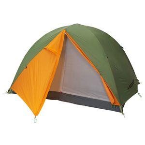 【アウトドア】DUNLOP(ダンロップテント) 2人用3シーズンツーリングテント R226 グリーン×オレンジ - 拡大画像