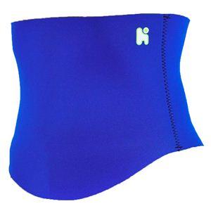 【日本製サポーター】ヘルスポイント ランニング用腹巻き(スポーツ腹巻き) ブルー L-LL - 拡大画像