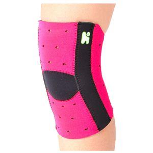 【日本製サポーター】ヘルスポイント マラソンズニーサポート10ホール付) ピンク M-L - 拡大画像