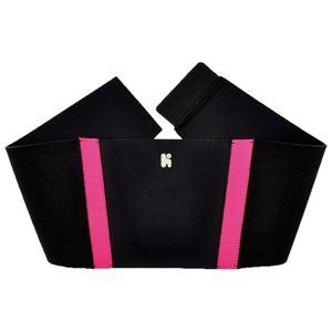 【日本製サポーター】ヘルスポイント ランニングバックサポート ブラック×ピンク フリー - 拡大画像