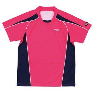 ヤマト卓球 デファンスシャツ 30265 ピンク O [卓球用品/卓球シャツ/ユニフォーム/ゲームシャツ/TSP] - 拡大画像