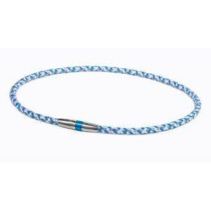 Phiten(ファイテン) RAKUWA ネック X50 ハイエンド III ブルー 50cm TG475253 - 拡大画像