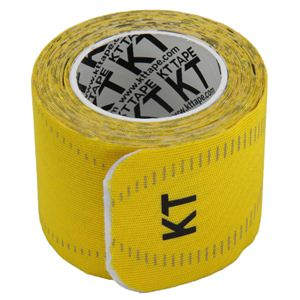 KT TAPE PRO(KTテーププロ) ロールタイプ 15枚入り イエロー (キネシオロジーテープ テーピング) - 拡大画像