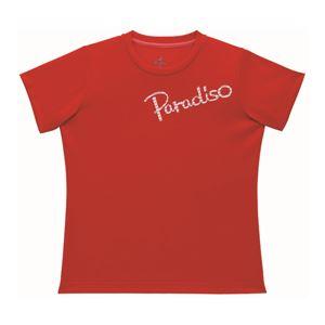 PARADISO(パラディーゾ) 半袖プラクティスシャツ 52CL1A レッド M - 拡大画像