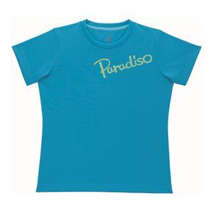 PARADISO(パラディーゾ) 半袖プラクティスシャツ 52CL1A ターコイズ M - 拡大画像
