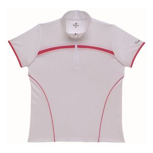 BridgeStone(ブリヂストン) ゲームシャツ 52CL3A ホワイト×ピンク LL