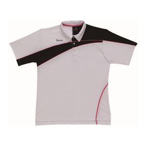 PARADISO(パラディーゾ) ゲームシャツ 52CM4A ホワイト×ブラック×ピンク M