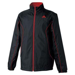 adidas(アディダス) ESS BC ウィンドブレーカージャケット WD048 ブラック×ユニバーシティレッド L - 拡大画像