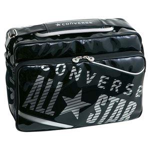 CONVERSE(コンバース) エナメルショルダー(M) C1365053 ブラック×シルバー