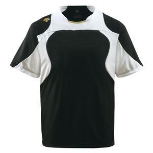 デサント(DESCENTE)ベースボールシャツ(野球)DB115ブラック×Sホワイト×SゴールドXA