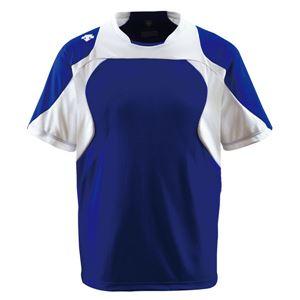 デサント(DESCENTE)ベースボールシャツ(野球)DB115Dロイヤルブルー×Sホワイト×ホワイトM