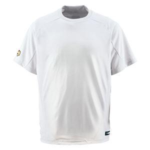 デサント(DESCENTE) ベースボールシャツ(Tネック) (野球) DB200 Sホワイト XO - 拡大画像