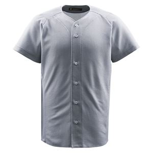 デサント(DESCENTE) ジュニアフルオープンシャツ (野球) JDB1010 シルバー 150