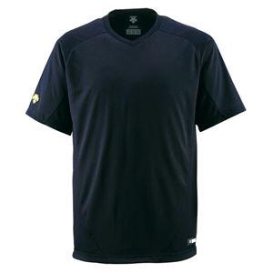 デサント(DESCENTE) ジュニアベースボールシャツ(Vネック) (野球) JDB202 ブラック 140