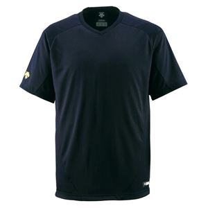 デサント(DESCENTE)ジュニアベースボールシャツ(Vネック)(野球)JDB202ブラック160