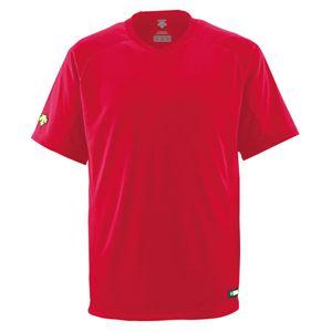デサント(DESCENTE)ジュニアベースボールシャツ(Vネック)(野球)JDB202レッド160