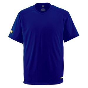 デサント(DESCENTE)ジュニアベースボールシャツ(Vネック)(野球)JDB202ロイヤル150