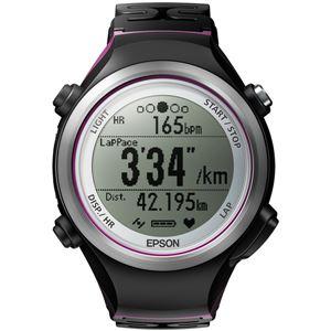 エプソン(EPSON) 脈拍計測機能搭載 Wristable GPSウォッチ SF810V ブラック×バイオレット