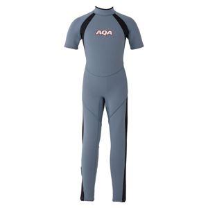 AQA(アクア) キッズスーツ シーガルII KW4505A スモークブルー×マットブラック110 - 拡大画像