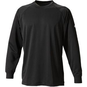 ファイテン(PHITEN) RAKUシャツSPORTS(吸汗速乾)長袖ブラック3L JF900107