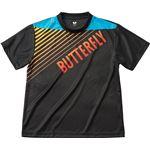 バタフライ(Butterfly) 男女兼用Tシャツ グラデイト・Tシャツ 45090 ブラック XO