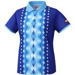 ニッタク(Nittaku) 女子用卓球ユニフォーム ダイヤシャツ NW2169 ブルー 2XO
