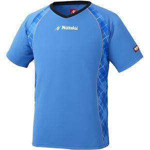 ニッタク(Nittaku) 男女兼用卓球ユニフォーム ユニ Vチェックスシャツ NW2171 ブルー S