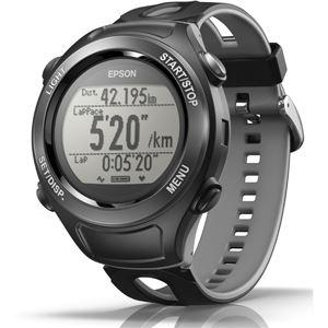 エプソン(EPSON) GPS機能・活動量計機能搭載 Wristable GPSウォッチ SF120B クールブラック - 拡大画像