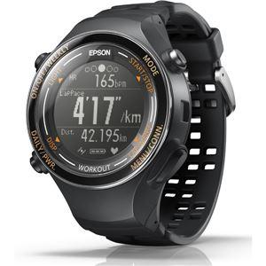 エプソン(EPSON) GPS機能・脈拍計測機能・活動量計機能搭載 Wristable GPSウォッチ SF850PJ ジェットブラック
